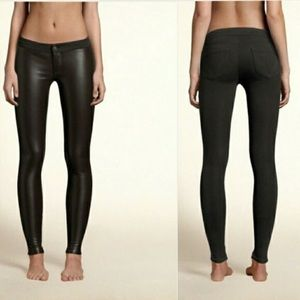 Hollister faux leather jeggings